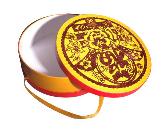 圆形手提式食品包装礼盒