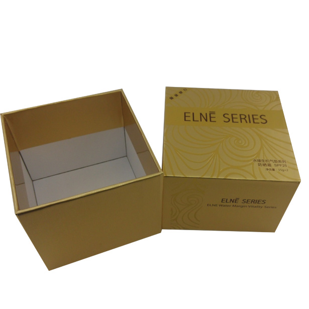 炫目金色花紋化妝品包裝盒